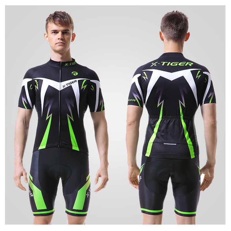 X-Tiger Pro ขี่จักรยาน JERSEY ชุดขี่จักรยานฤดูร้อนสวมใส่ Mountain Bike เสื้อผ้าเสื้อผ้าจักรยาน MTB จักรยานขี่จักรยานเสื้อผ้าขี่จักรยานชุด