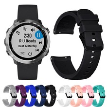 New Silicone Strap FOR Garmin Vivoactive 3 music Smart Watch accessory Band Vivomove HR Wristband FOR Garmin Forerunner 645 belt цена и фото
