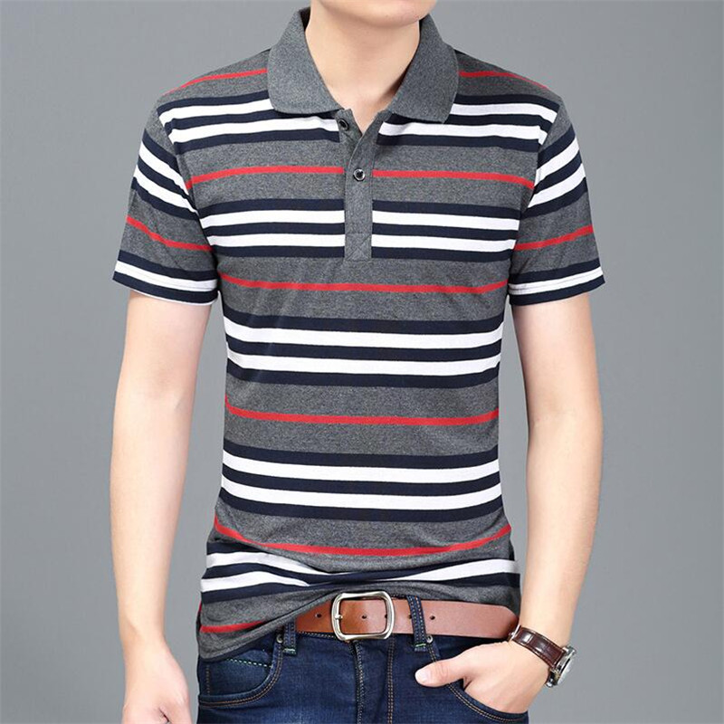 HOWL LOFTY Men Embroidery   Polo   Shirts Slim Fit Turn-down Collar Striped   Polo   Shirts Mens 2018 New Cotton   Polo   Man 8XL