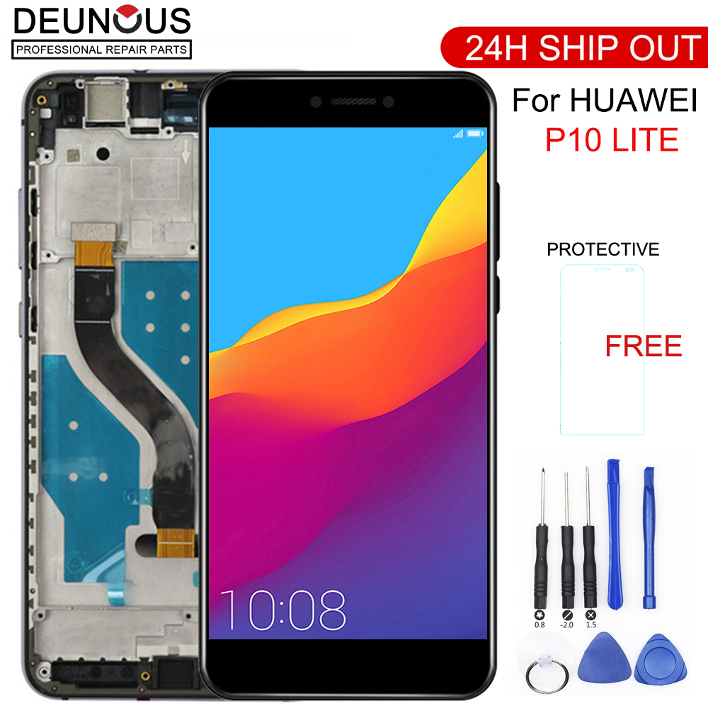 """5.2"""" ORIGINAL LCD For HUAWEI P10 Lite Display Touch Screen with Frame For HUAWEI P10 Lite LCD Screen was lx1 was lx1a Nova Lite