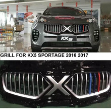 QUALIDADE SUPERIOR 2016 2017 SPORTAGE KX5 RACING FRENTE GRILL GRILLE ESTILO DO CARRO NOVO SPORTAGE KX5 2016 2017 GRADE DIANTEIRA CORRIDA GRILL