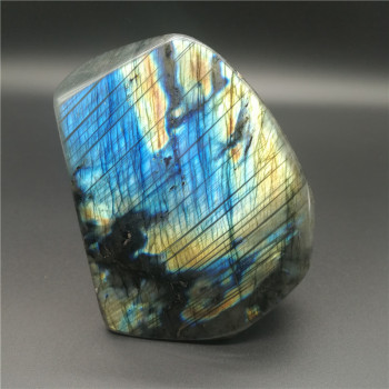 920g Natural Labradorite Crystal Rough Polished From Madagascar