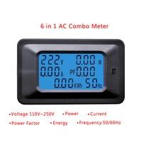 20/100a ac lcd digital painel medidor de energia watt monitor tensão kwh voltímetro amperímetro
