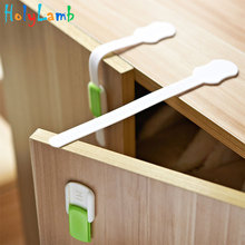 2Pcs/Lot Child Lock Drawer Cabinet Protection of Children Locking Doors for Childrens Safety Kids