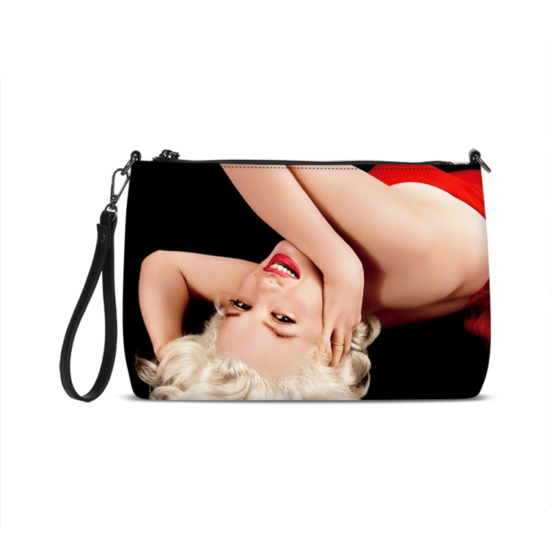 Sexy red lips pop bag painted by fer sucre