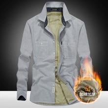 2018 Fashion Men's Slim Shirts Autumn And Winter Thickening Warm Plaid 18 Colors Male Social Shirt Clothing Size L-4xl Qc013