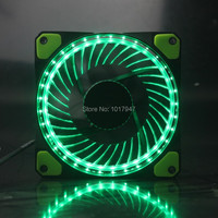 1pieces Lot 3Pin 4Pin 12V Eclipse Cooling CPU Heatsink Fans 32 LED Light Green For Computer