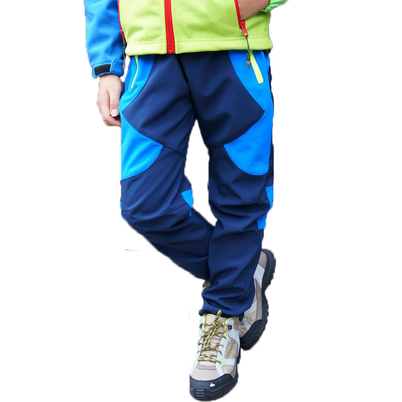Brand Climbing Trousers Children Outerwear Warm Trousers Waterproof Baby Boys Girls Pants For 3-12 Years Old