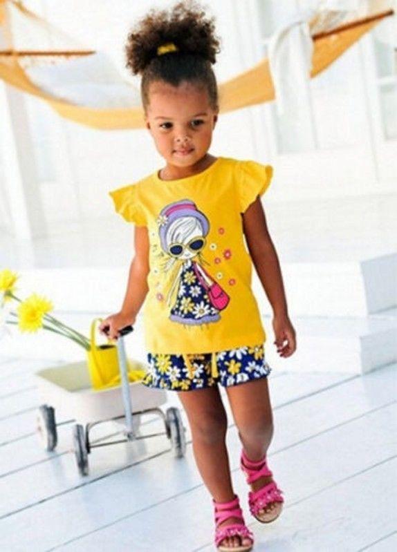 UK Toddler Baby Girls Sleeveless Clothes Tops T-Shirt Shorts Summer Outfit Set