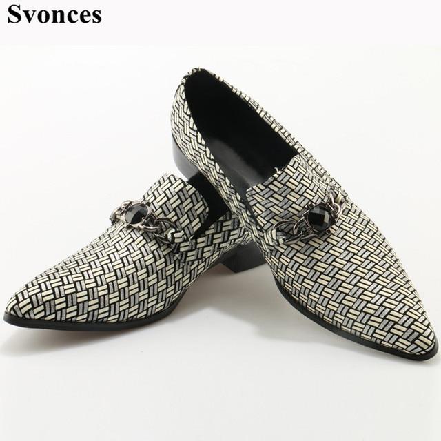b36247f148c Zapatos de vestir formales para hombre a cuadros hechos a mano de Color gris  de lujo
