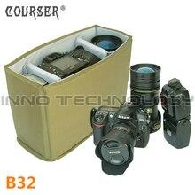 COURSERR Pro Камера/Видео Сумки Складной перегородки мягкий Камера сумка Вставить DSLR делитель защита B32