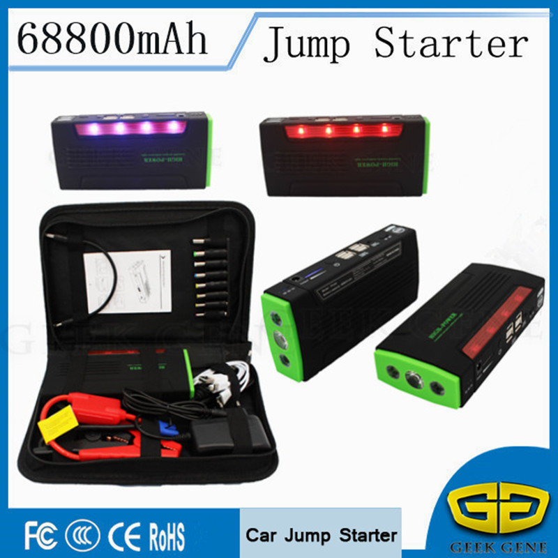 2018 Car Jump Starter 600A Portable Lighter Starting Device 4USB Power Bank 12V Car Charger For