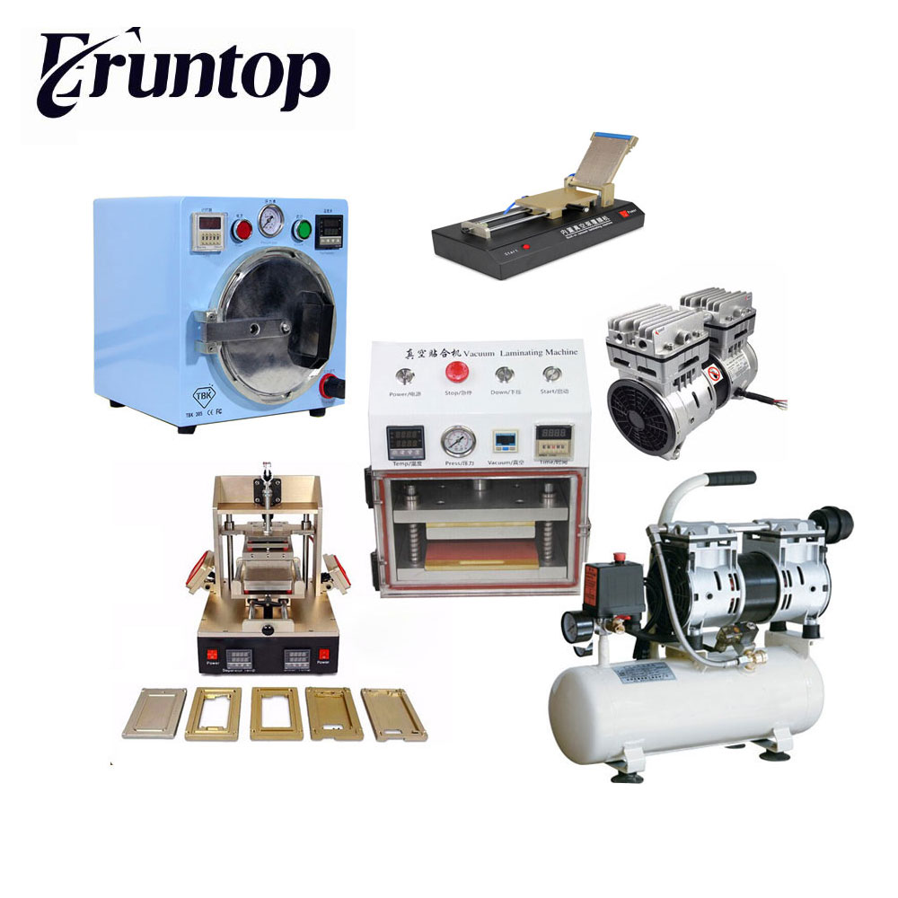 Fullset LCD  Screen Repair Refurbished Kit  5 in 1 Separator+Vacuum pump Laminator+ Film Lamilating Machine+ OCA Bubble Remover 3 in 1 automatic vacuum oca film laminator machine build in pump non air compressor for samsung s6 edge