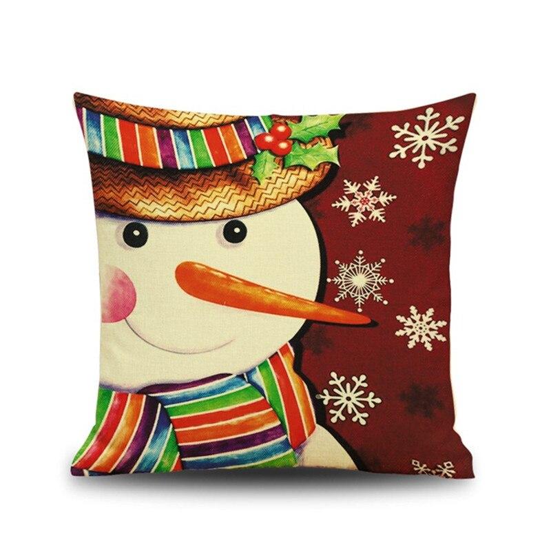 Festival Christmas Snowman Cartoon deer home hotel club Decoration Cushion Cover Pillow Throw Pillows Santa Claus New Year Gift