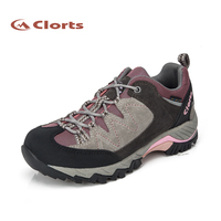 2015 Free Shipping Clorts Women Hiking Shoes Low Top Waterproof Leather Walking Shoes Outdoor Shoes Multisports