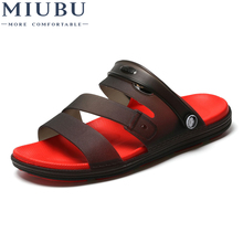 MIUBU New Summer Jelly Shoes Men Beach Sandals Hollow Slippers Men Flip Flops Light Sandalias Outdoor Summer Chanclas uexia new big size 36 45 men summer shoes beach lovers unisex flip flops mens slippers lighted sandalias outdoor chanclas hombre