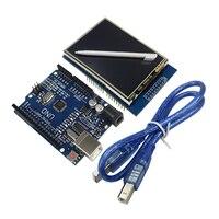 2.8นิ้วTFT LCDโมดูลหน้าจอแสดงผลแบบสัมผัส+ UNO R3พัฒนาคณะ+สายUSB