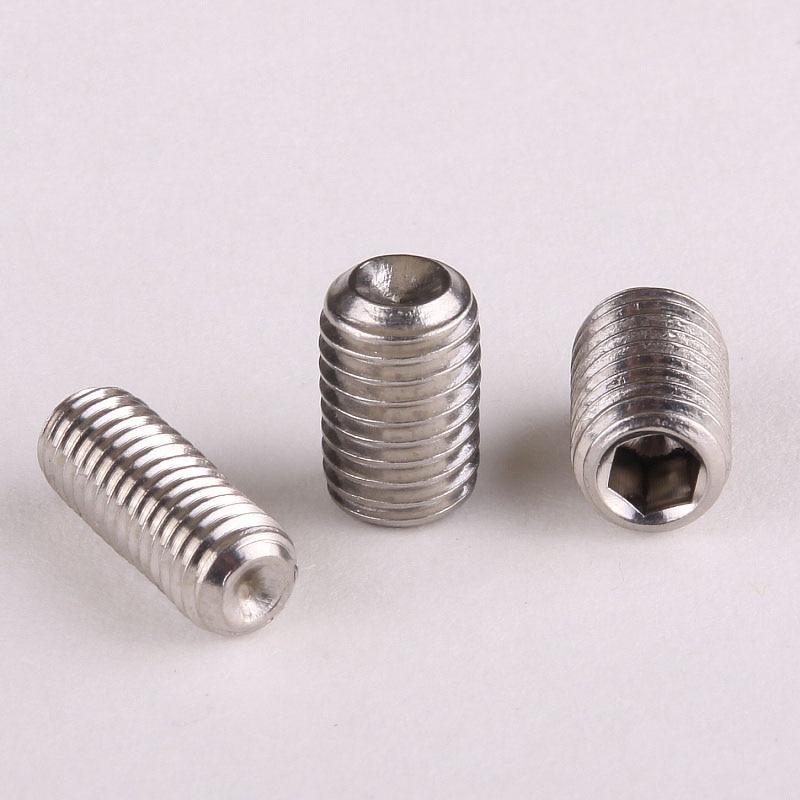 304 stainless steel Blunt end set screws / Jimi screws / Kimi M4 * 12 cnbtr 12x silver 1 16gauge stainless steel blunt needle blunt tips for industrial dispenser