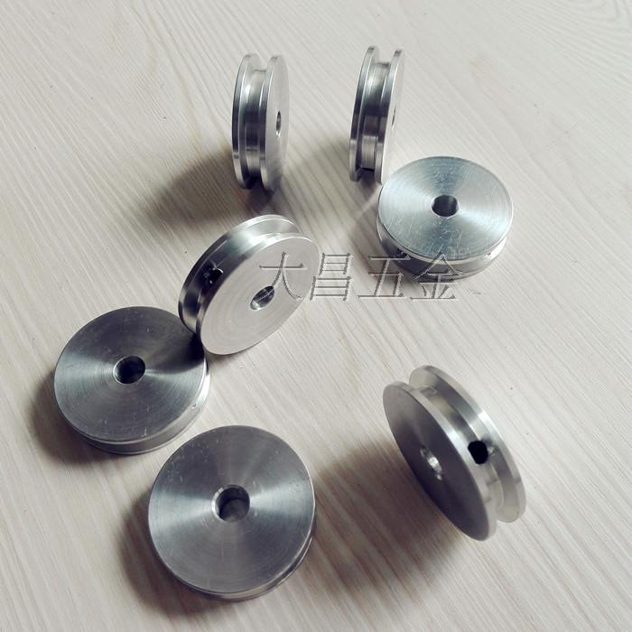 Aluminum alloy single groove belt pulley main shaft motor pulley ...