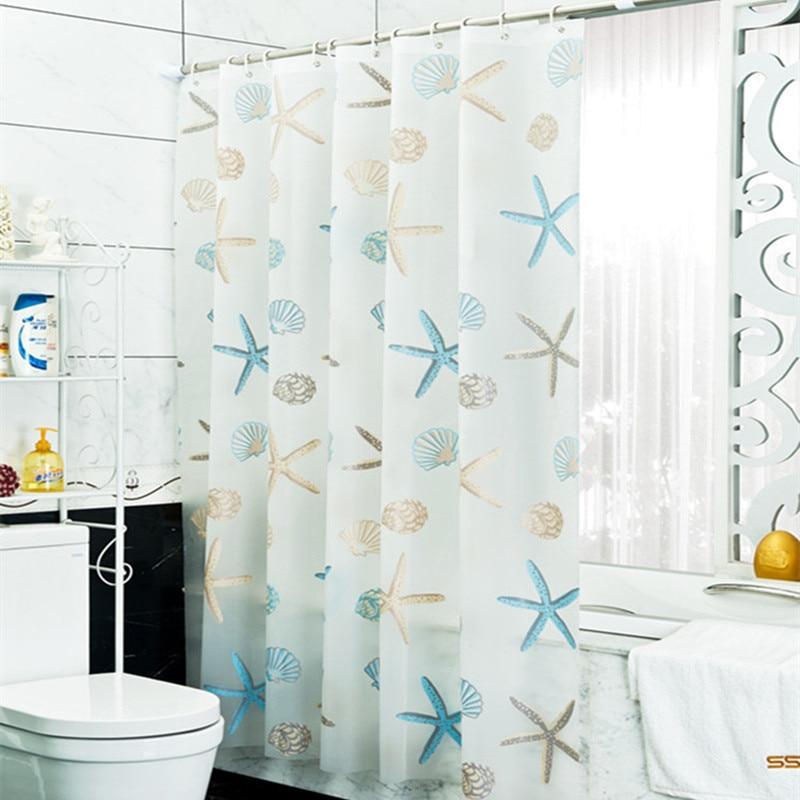 Bathroom Decoration Seashell Starfish PEVA Waterproof Mouldproof Bathroom Shower Curtains