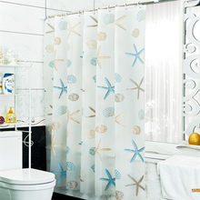 Bathroom Decoration Seashell Starfish PEVA Waterproof Mouldproof Shower Curtains