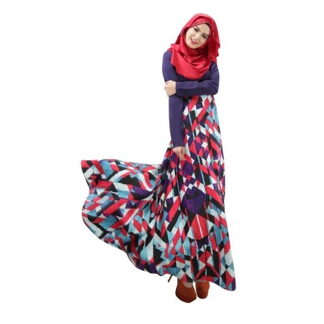 Abaya Jilbab Islamic Muslim Women Long Sleeve Maxi Dresses Kaftan ... a9fc43e98aed