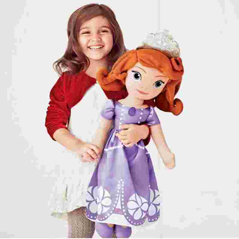 Free shipping 70cm Sofia the First Princess Sofia Doll Plush Toys 70cm Stuffed Soft Toys Dolls for christmas Gift pair of trendy rhinestone oval leaf earrings for women page 3