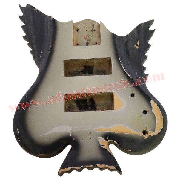 Afanti Musique DIY Basse BRICOLAGE Électrique Basse guitare Corps (ADK-183)