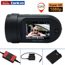 Conkim Mini 0807 Ambarella A7 Dash Camera 1080P Full HD Video Recorder Registrar Car DVR GPS Parking Guard Record Dual TF Card