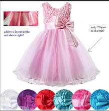fa7777d0d Vestido de bebé niña princesa niños fiesta boda de dama de honor Formal  vestidos de tutú de 1 año a 10 años