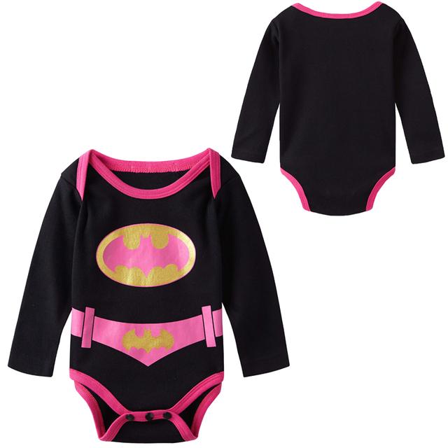 Bébé Fille Batgirl Costume Body Infantile Parti Hiver Vêtements Nouveau-Né Infantile Corps Bebes Bébé À Manches Longues