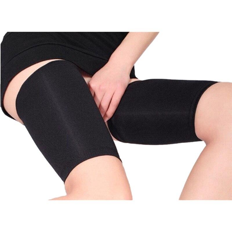 Nude/Black New Fashion Thin Thigh Leg Shaper Burn Fat Socks Compression Stovepipe Leg Warmer Slimming Thigh Wrap Control Body 3