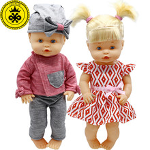 Doll Clothes Fit 35cm Nenuco Doll Nenuco y su Hermanita Cute Jacket + Trousers Hat Suit and Princess Dress Doll Accessories 600(China)