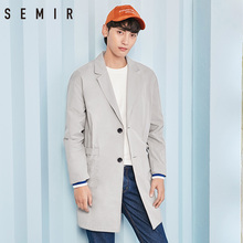 SEMIR Jacket men long sleeve coat long trench thin clothing simple chic clothes