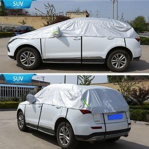 Image 3 - 하프 카 커버 창 차양 커튼 자동차 태양 그늘 커버 빛나는 마크 야외 방수 자외선 보호 자동차 액세서리