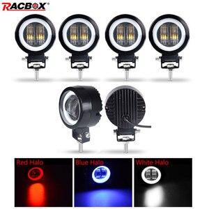 Image 1 - 7D 3 inch Lens LED Work Light Portable Spotlights For Offroad Truck Driving Car Boat Motorcycle UAZ ATV 12V 24V Fog Light