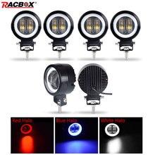 7d 3 polegada lente led luz de trabalho portátil holofotes para caminhão offroad condução carro barco motocicleta uaz atv 12 v 24 v luz nevoeiro