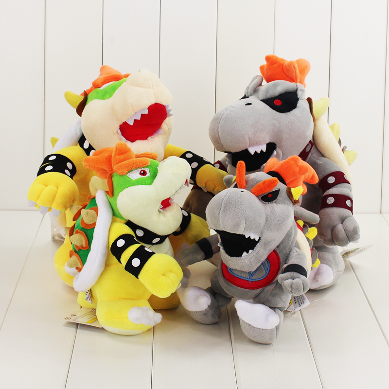4 Styles Super Mario Plush Toy Koopa Bowser Soft Stuffed Dolls Morton Koopa JR Gift for Children(China)