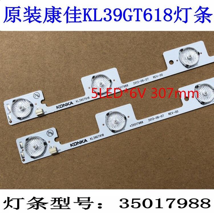 Computer & Office 50piece/lot 100% New Led Backlight Strip For Kl39gt618 35017988 1piece= 5led*6v 307mm