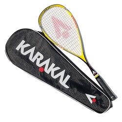 Raqueta de Squash KARAKAL de fibra de carbono 100% con bolsa de paquete 130g Super Light SLC para partido y entrenamiento