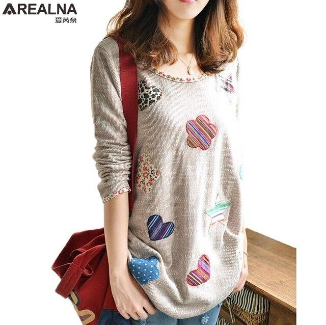 b6dd5370591e Vintage bordado de La Flor de las mujeres blusa de lino coreano de moda de  manga larga para Mujer Tops y blusas Plus tamaño camisa