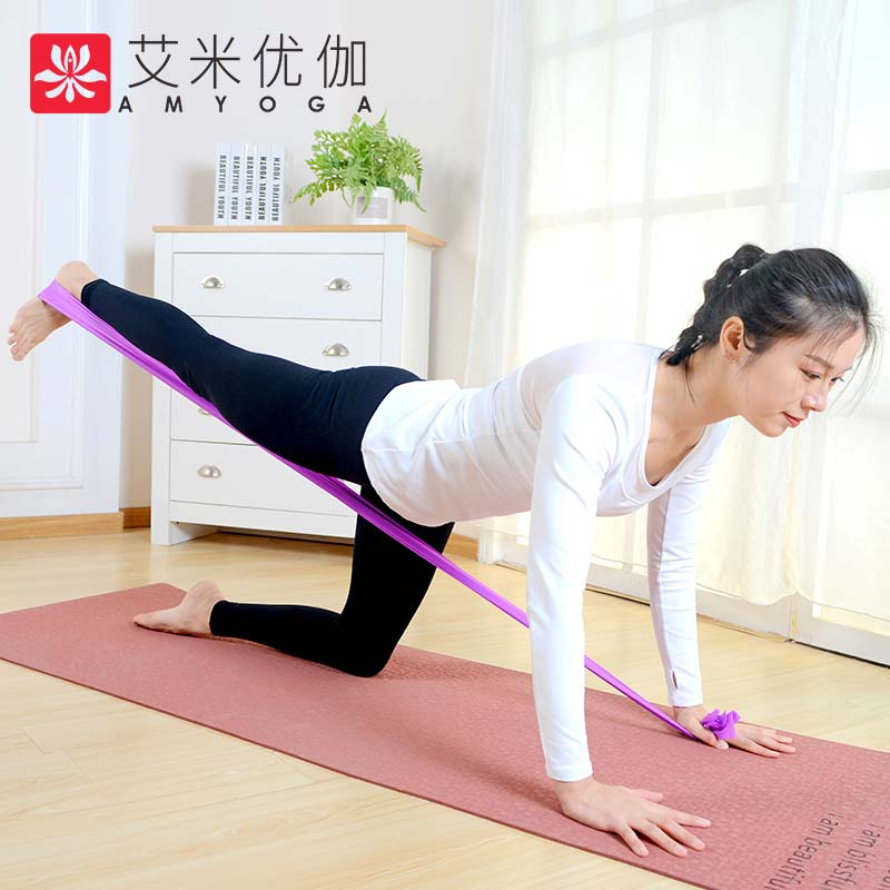 Yoga Stretch Fitness Rintangan Bands Pilates Lateks lateks band penghantaran percuma