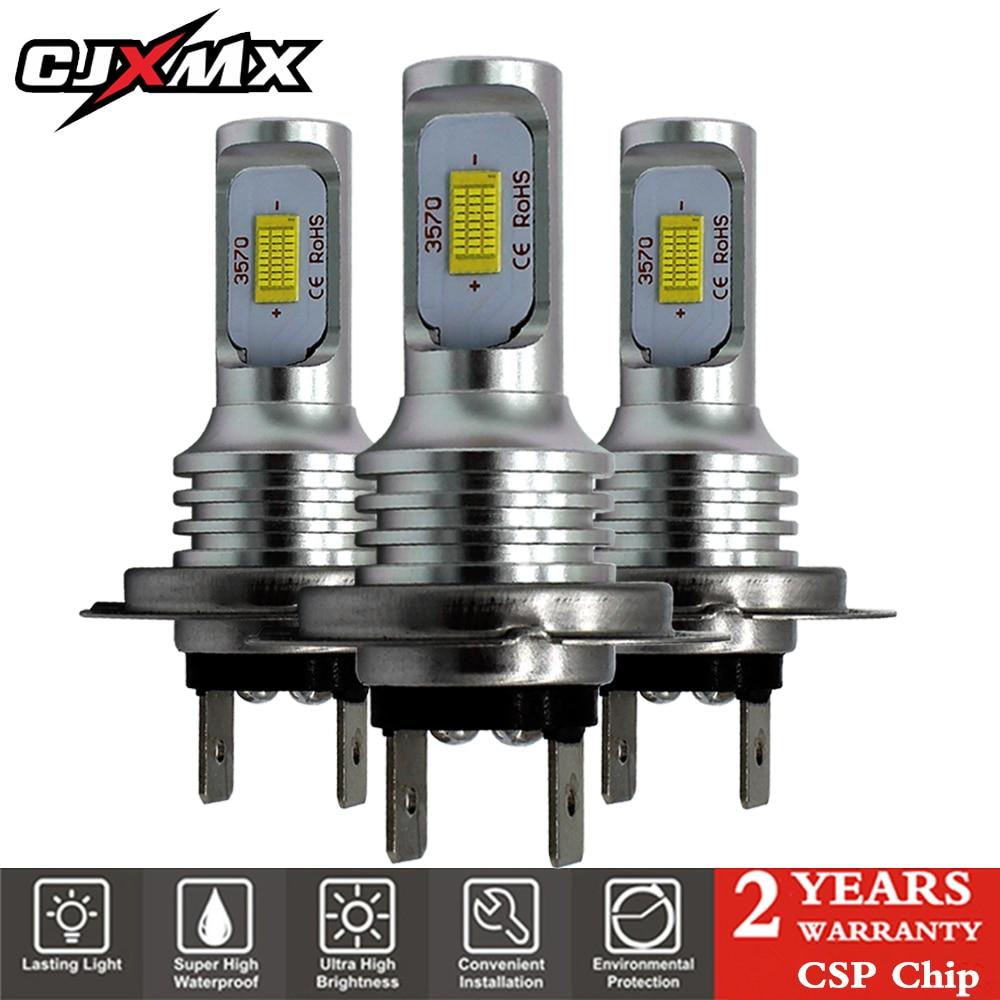CJXMX H7 LED Car Fog Light Bulbs 1600LM 6500K White 3000K Yellow H1 H3 H4 H11 9005/HB3 9006/HB4 1156 Led Auto Lamp Driving Bulbs