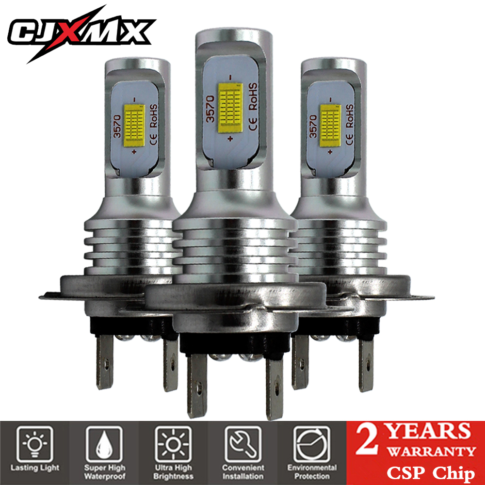 CJXMX H7 <font><b>LED</b></font> Car Fog Light <font><b>Bulbs</b></font> 1600LM 6500K White 3000K <font><b>Yellow</b></font> H1 H3 <font><b>H4</b></font> H11 9005/HB3 9006/HB4 1156 <font><b>Led</b></font> Auto Lamp Driving <font><b>Bulbs</b></font> image