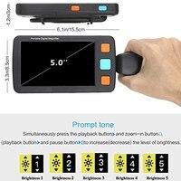 2019 ушной аппарат 5,0 дюймов ЖК Электрический цифровой визуальный аппарат видеолупа 4 32X для низкого визуального чтения SN Hot
