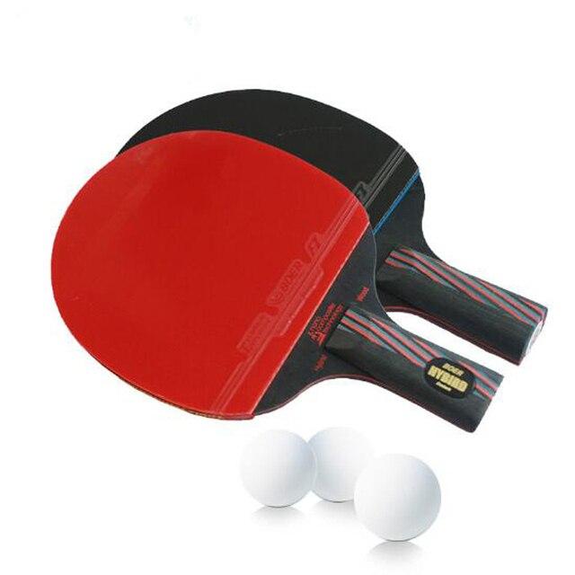 מעולה בעבודת יד עץ היברידי 9.8 מותג מחבט טניס שולחן פצעונים כפולים עטלף EV-91