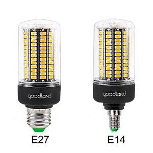 Image 2 - Goodland E27 LED מנורת E14 LED הנורה 220V 110V LED אור 3.5W 5W 7W 9W 12W 15W 20W נוריות תירס אור SMD 5736 אין הבהוב אורות
