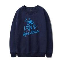 New ONE LOVE แมนเชสเตอร์แฟชั่น hip hop ผู้ชายผู้หญิง Hoodies หมวกเสื้อแขนยาว o   neck Hoodie Sweatshirt เสื้อกันหนาวเสื้อ