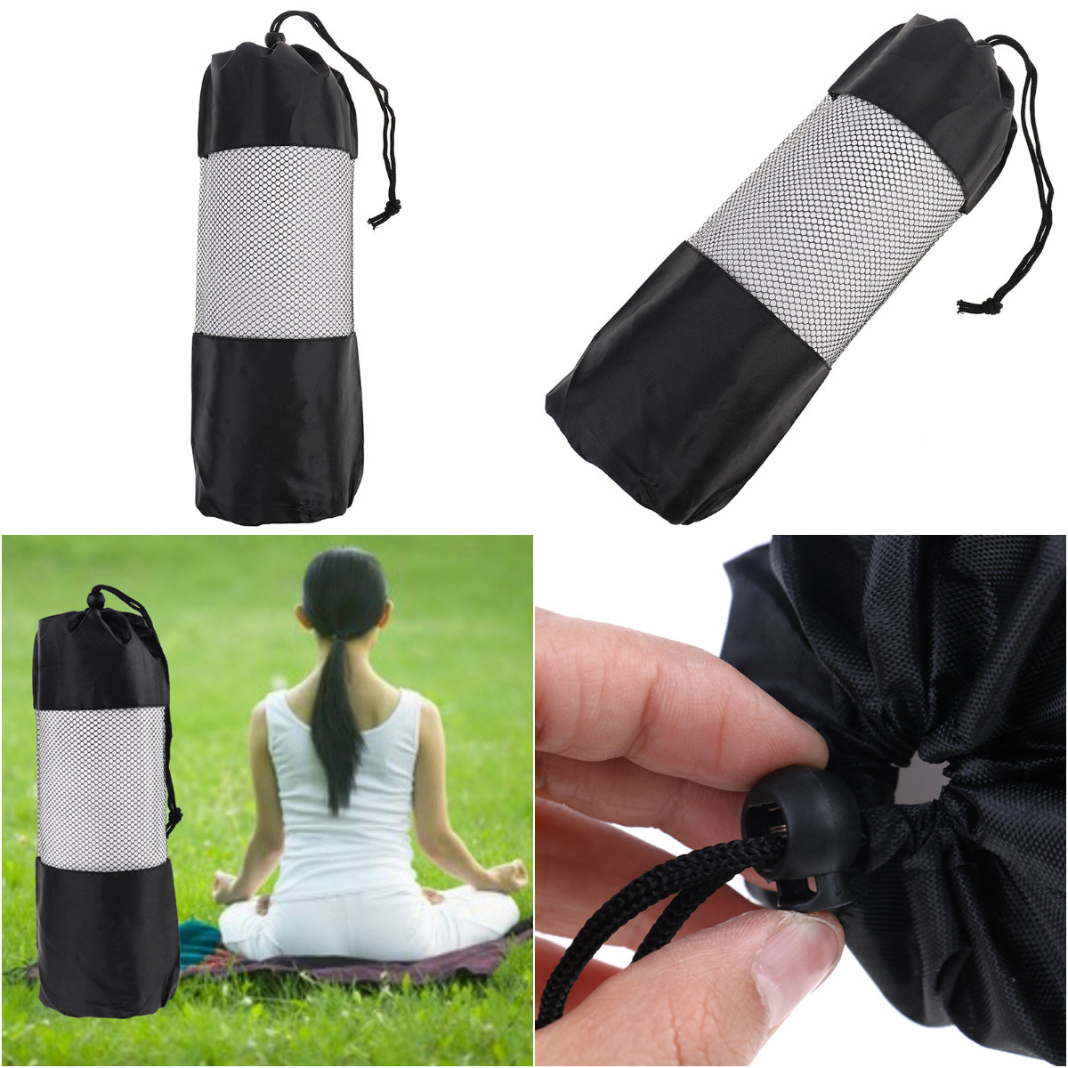 Sport Exercise Mat Carry Strap Drawstring Bag Gym Bag Fitness Backpack 35*10.5cm Yoga Bag Canvas Practical Yoga Pilates Crazy Price Ropa, Calzado Y Complementos