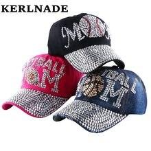 Marca al por mayor Popular joven muchacha Mujer denim gorras de béisbol  nueva moda mujeres en forma de corazón rhinestone jeans . 7ed5a482aea
